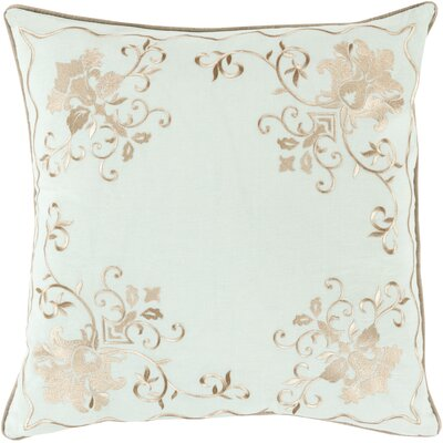 Throw Pillow Size: 22 H x 22 W x 4 D, Color: Beige/Sea Foam, Filler: Down
