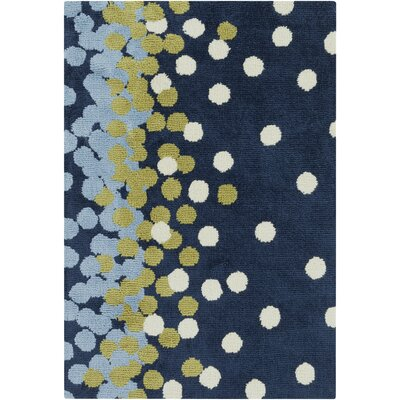 Clive Navy/Sky Blue Area Rug Rug Size: 2 x 3