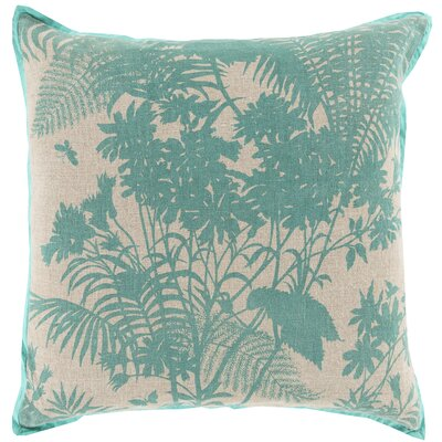 Throw Pillow Color: Mint, Filler: Down