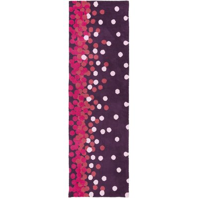 Clive Purple/Pink Area Rug Rug Size: Runner 26 x 8