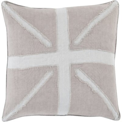 Ioannis Throw Pillow Size: 22 H x 22 W x 4 D, Color: Gray, Filler: Down