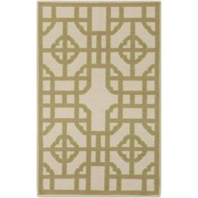 Elsmere Beige/Taupe Geometric Hand Woven Area Rug Rug Size: Rectangle 2 x 3