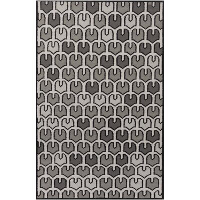 Criss Gray Geometric Area Rug Rug Size: Rectangle 33 x 53
