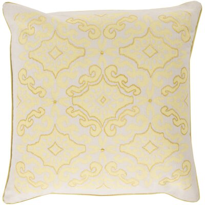 Mammoth Cotton Throw Pillow Size: 18 H x 18 W x 4 D, Color: Butter / Ivory, Fill Material: Down