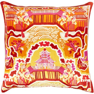 Silk Throw Pillow Size: 22 H x 22 W x 4 D, Color: Burnt Orange, Filler: Polyester