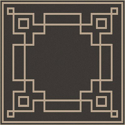 Pearce Black/Beige Indoor/Outdoor Area Rug Rug Size: Square 73