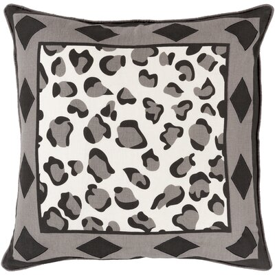 Throw Pillow Color: Charcoal, Size: 22 H x 22 W x 4 D, Filler: Down