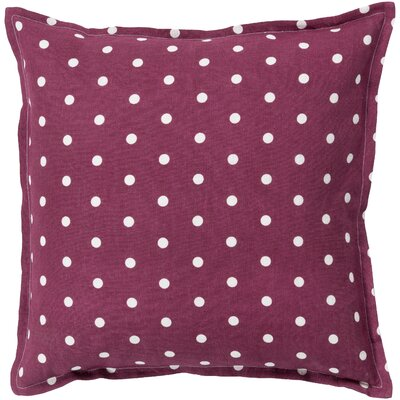 Kristen Linen Throw Pillow Size: 18 H x 18 W x 4 D, Color: Rust