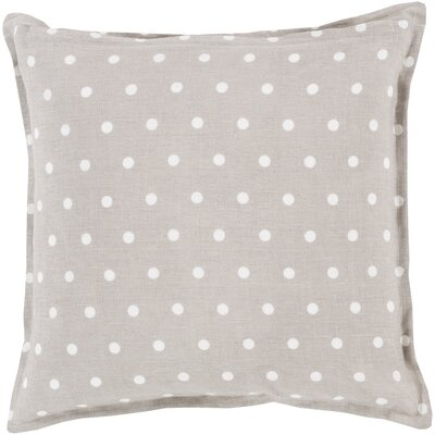 Kylie Linen Throw Pillow Size: 18 H x 18 W x 4 D, Color: Light Gray
