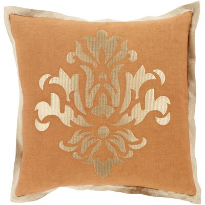 Boulters Throw Pillow Size: 18 H x 18 W x 4 D, Color: Tan, Filler: Down