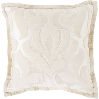Boullanger Cotton Throw Pillow Size: 18 H x 18 W x 4 D, Color: Ivory, Filler: Down