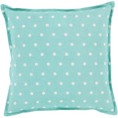 Kristen Linen Throw Pillow Size: 18 H x 18 W x 4 D, Color: Mint