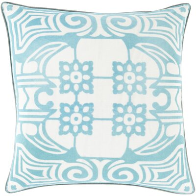 Ace Linen Throw Pillow Size: 22 H x 22 W x 4 D, Color: Teal, Filler: Polyester