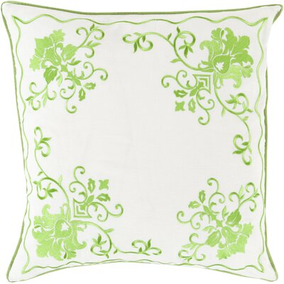 Decatur Throw Pillow Size: 22 H x 22 W x 4 D, Color: Lime/Ivory, Filler: Down