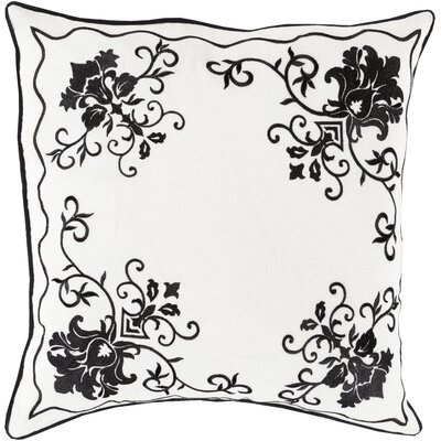 Decatur Throw Pillow Size: 22 H x 22 W x 4 D, Color: Charcoal/Ivory, Filler: Down