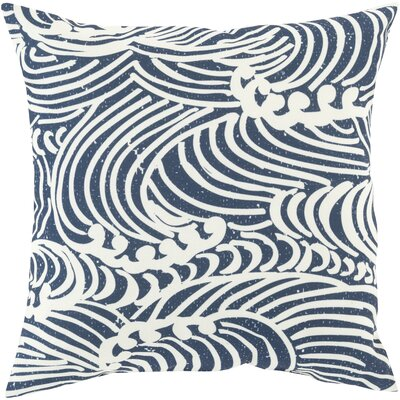 Throw Pillow Size: 18 H x 18 W x 4 D, Color: Navy, Filler: Polyester