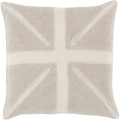 Ioannis Throw Pillow Size: 18 H x 18 W x 4 D, Color: Beige, Filler: Down