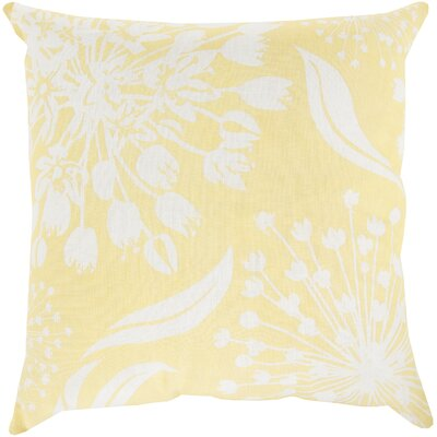 Zak Linen Throw Pillow Size: 18 x 18, Color: Butter/Ivory, Fill Material: Down