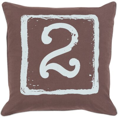 Cotton Throw Pillow Size: 22 H x 22 W x 4 D, Number: 2, Color: Slate/Brow