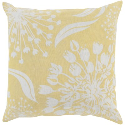 Zak Linen Throw Pillow Size: 20 x 20, Color: Gold/Ivory, Fill Material: Polyester
