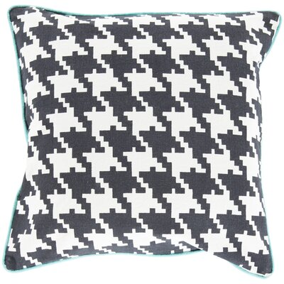 Alldredge Cotton Throw Pillow Size: 22 H x 22 W x 4 D, Color: Charcoal, Filler: Down