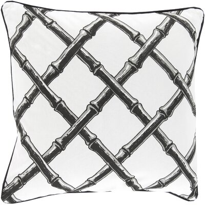 Cotton Throw Pillow Color: Charcoal, Filler: Down