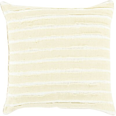 Ward Throw Pillow Size: 22 H x 22 W x 4 D, Color: Olive/Ivory, Filler: Polyester
