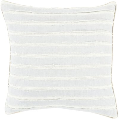 Ward Throw Pillow Size: 18 H x 18 W x 4 D, Color: Sky Blue/Ivory, Filler: Down