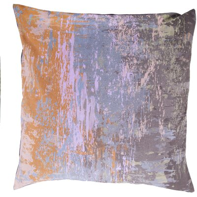 Cotton Throw Pillow Size: 18 H x 18 W x 4 D, Color: Charcoal, Filler: Polyester