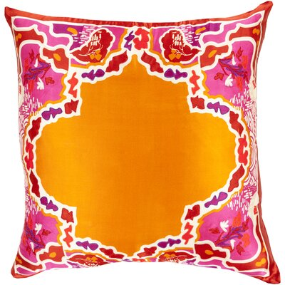 Knowland Silk Throw Pillow Size: 18 H x 18 W x 4 D, Color: Burnt Orange, Filler: Down