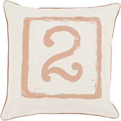 Clark Cotton Throw Pillow Size: 18 H x 18 W x 4 D, Color: Tan/Beige, Number: 2