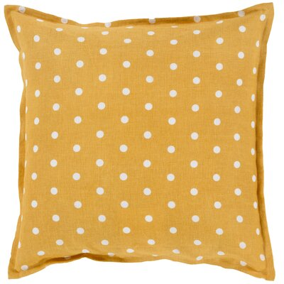 Kylie Linen Throw Pillow Size: 22 H x 22 W x 4 D, Color: Gold
