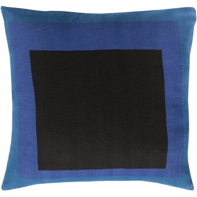 Wales Throw Pillow II Color: Cobalt, Size: 20 H x 20 W x 4 D, Filler: Down