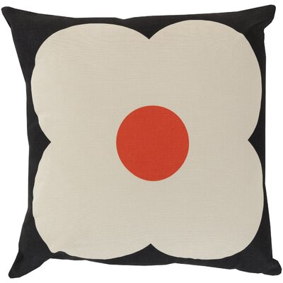 Throw Pillow Color: Beige / Poppy, Filler: Polyester