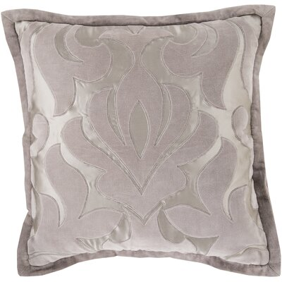 Boullanger Cotton Throw Pillow Size: 18 H x 18 W x 4 D, Color: Gray, Filler: Down