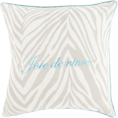 Stroud Throw Pillow Cover Size: 18 H x 18 W x 4 D, Color: Light Gray, Filler: Down