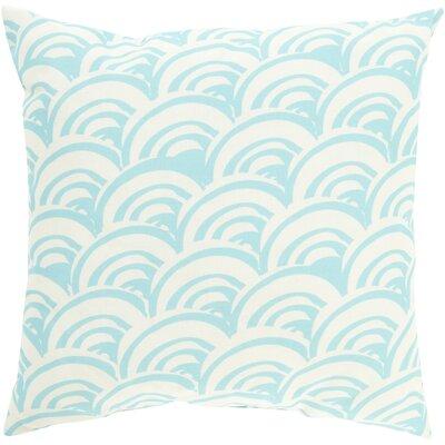 Throw Pillow Size: 20 H x 20 W x 5 D, Color: Aqua, Filler: Polyester