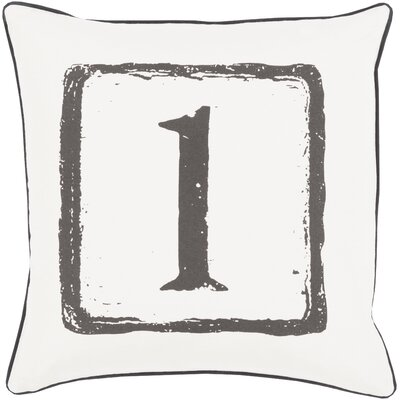 Clark Cotton Throw Pillow Size: 18 H x 18 W x 4 D, Color: Black/Light Gray, Number: 1
