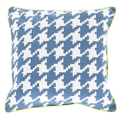 Cotton Throw Pillow Size: 22 H x 22 W x 4 D, Color: Slate, Filler: Down