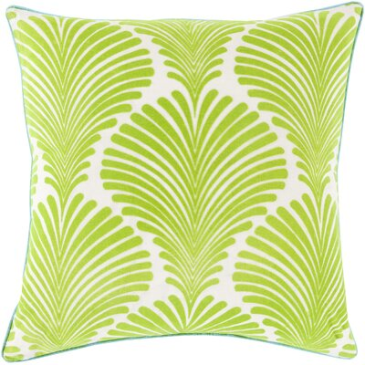 Armando 100% Cotton Throw Pillow Size: 18 H x 18 W x 4 D, Color: Lime, Filler: Down