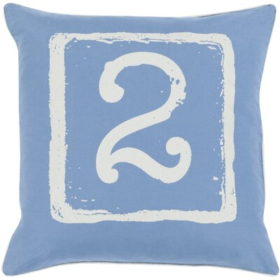 Noel Cotton Throw Pillow Size: 18 H x 18 W x 4 D, Color: Beige/Cobalt, Number: 2