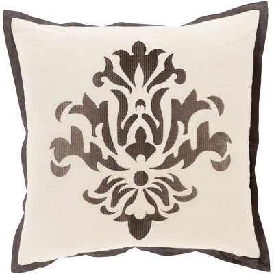 Boulters Throw Pillow Size: 18 H x 18 W x 4 D, Color: Taupe, Filler: Down