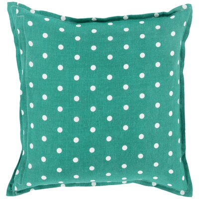 Kylie Linen Throw Pillow Size: 20 H x 20 W x 4 D, Color: Kelly Green