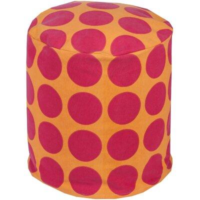 Chelsie Pouf Upholstery: Magenta/Tangerine