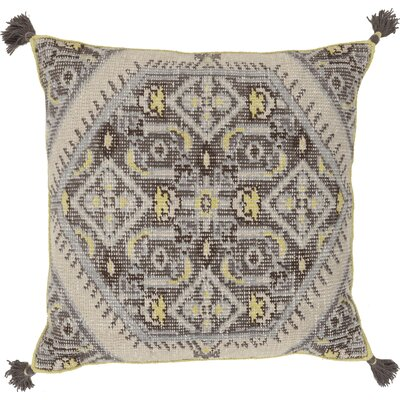 Cantrell Square Throw Pillow Color: Slate, Filler: Down