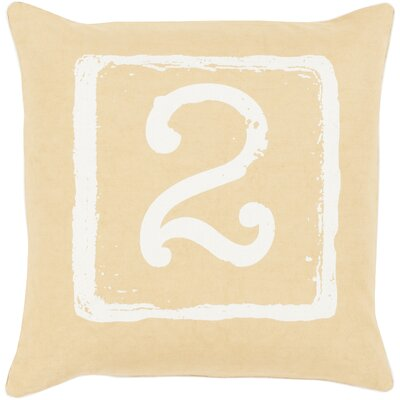 Noel Cotton Throw Pillow Size: 22 H x 22 W x 4 D, Color: Ivory/Gold, Number: 2