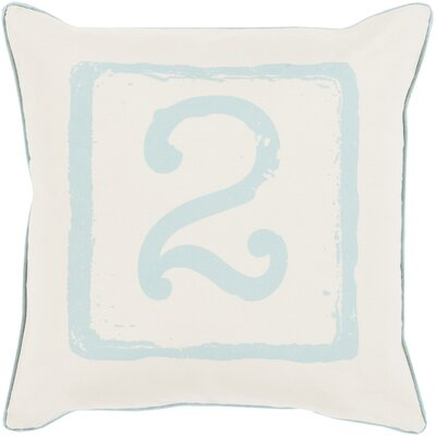Down Cotton Throw Pillow Size: 22 H x 22 W x 4 D, Color: Moss/Beige, Number: 2