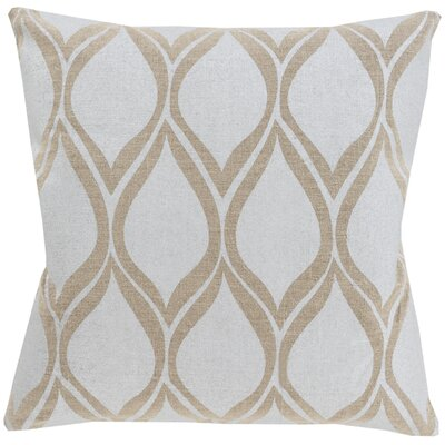Pale Linen Throw Pillow Color: Light Gray / Beige, Size: 20 H x 20 W x 4 D, Filler: Down