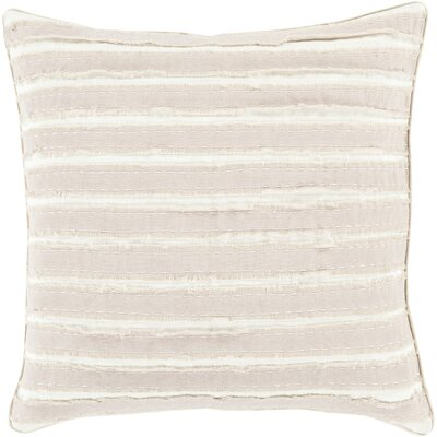 Ward Throw Pillow Size: 18 H x 18 W x 4 D, Color: Taupe/Ivory, Filler: Down