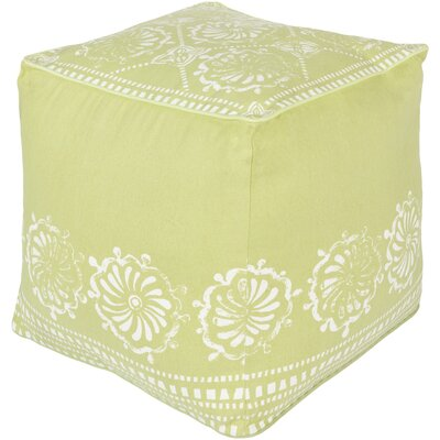 Wright Pouf Upholstery: Lime/Ivory
